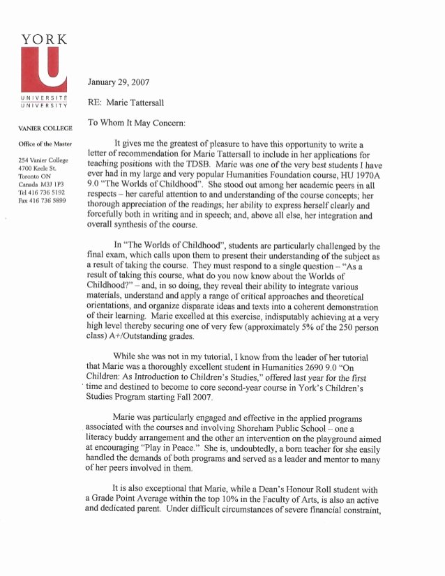 Recommendation Letter for Phd Elegant Reference Letter Carole Carpenter Phd Page 1