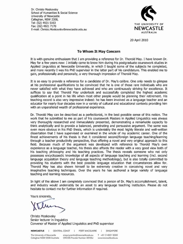Recommendation Letter for Phd New What is the Best Letter Of Re Mendation You Have Ever