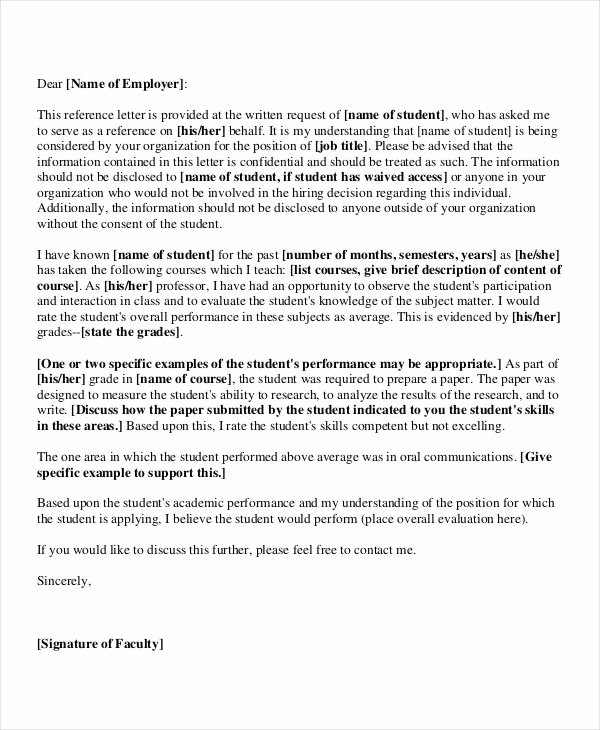 Recommendation Letter for Postdoc Fresh 40 Re Mendation Letter Templates In Pdf