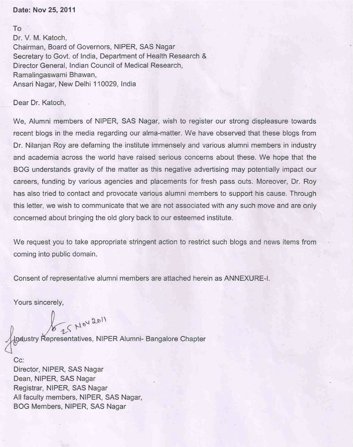 Recommendation Letter for Postdoc Unique A Biped Against Corruption November 2011