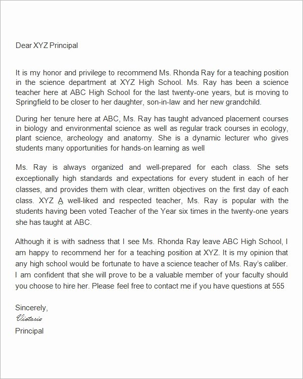 Recommendation Letter for Professor Position New Re Mendation Letter for Faculty Position Letter Of
