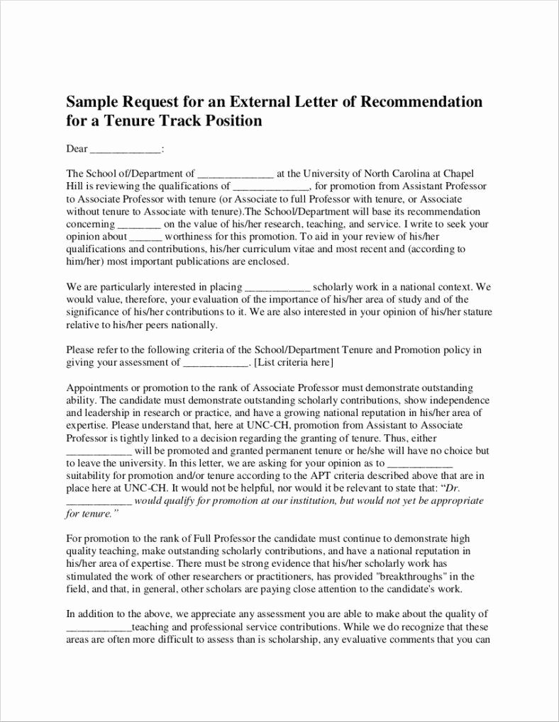 Recommendation Letter for Professor Position Unique 27 Promotion Letter Templates In Pdf