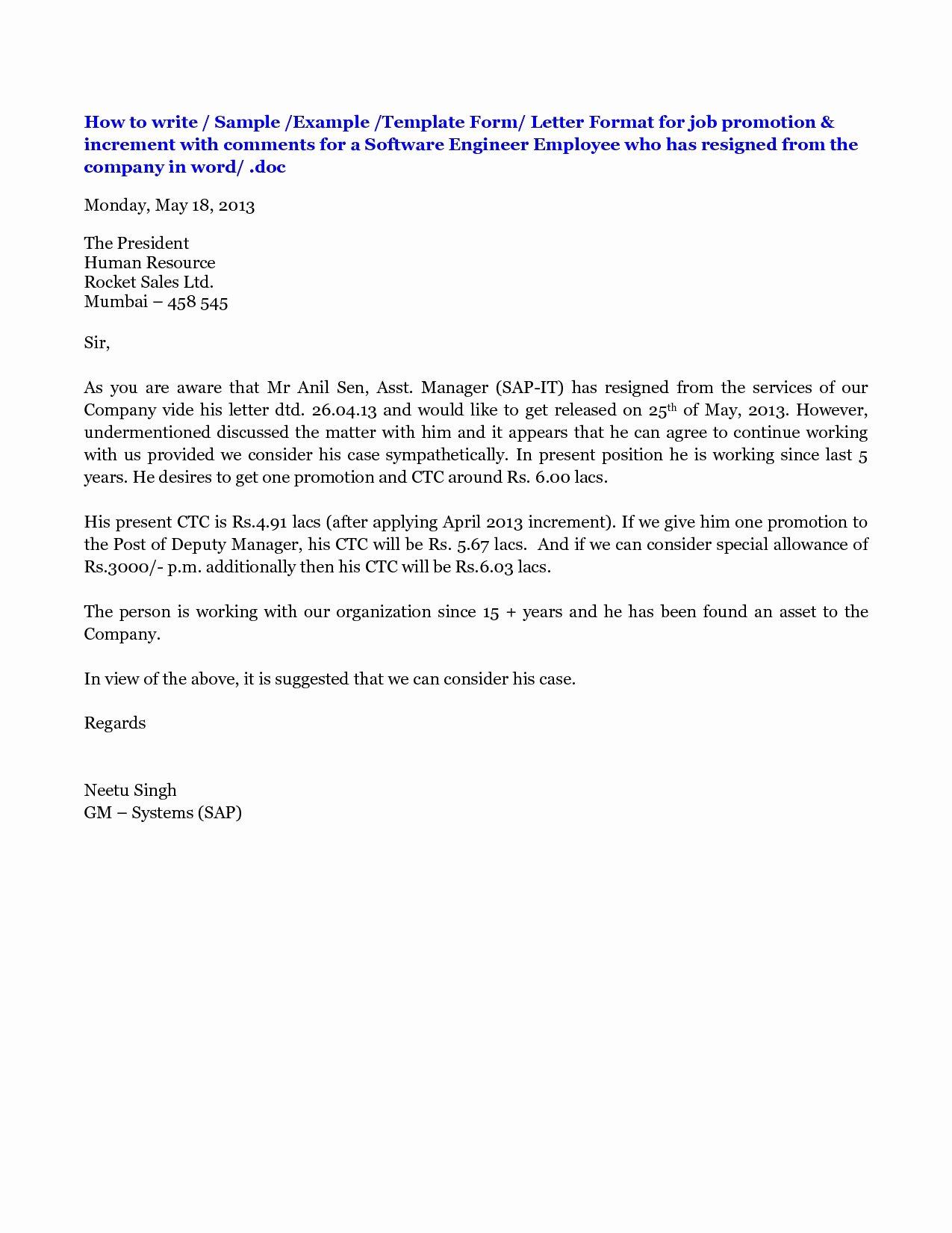 Recommendation Letter for Professor Promotion Fresh 12 Promotion Re Mendation Letter Examples Pdf