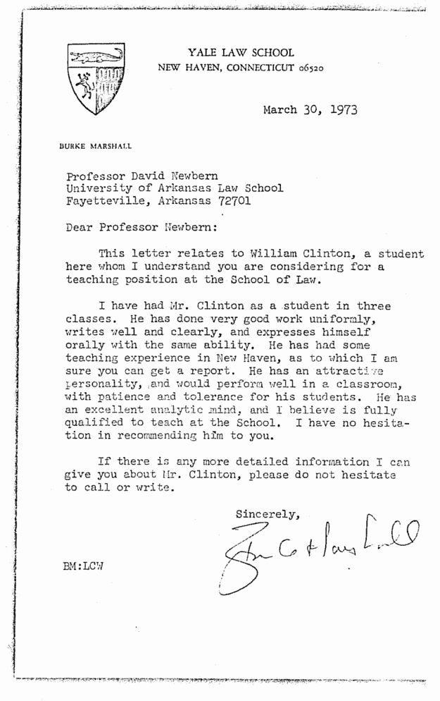 heres bill clintons personnel file from his time as an arkan