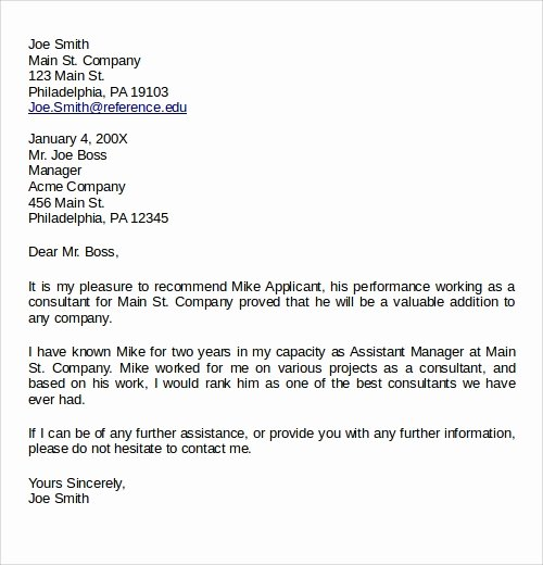 Recommendation Letter for Professor Promotion Lovely 28 Letter Of Re Mendation In Word Samples