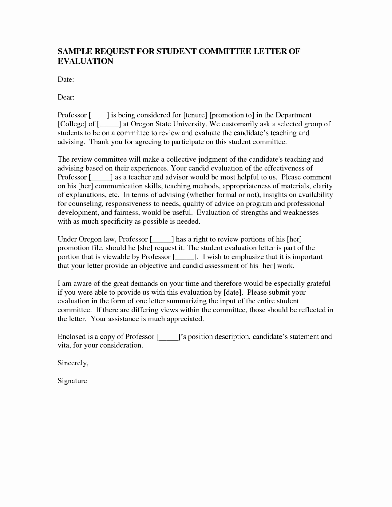 Recommendation Letter for Professor Promotion Unique Promotion Re Mendation Letter Sample Ideasplataforma