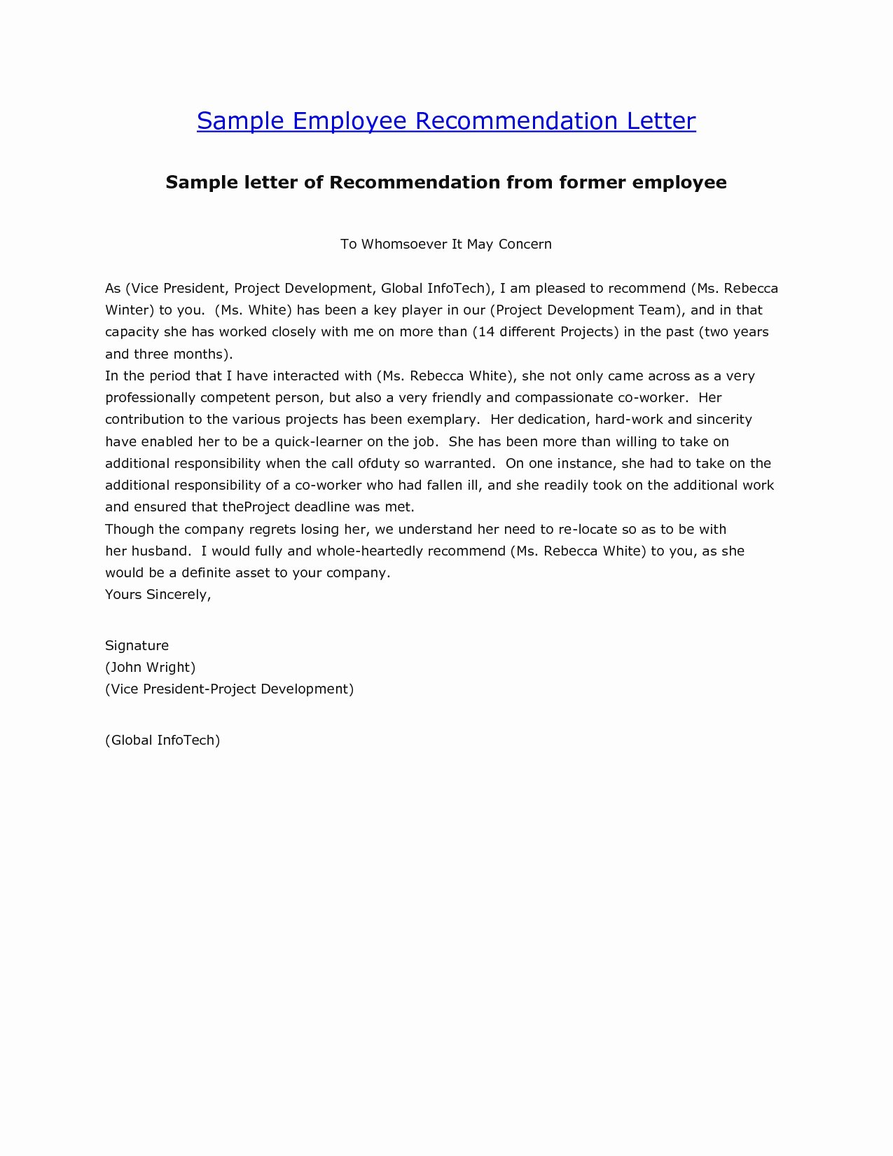 Recommendation Letter for Research Elegant [free] Letter Of Re Mendation Examples Samples