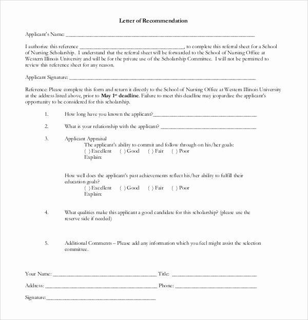 Recommendation Letter for Scholarship Best Of 30 Sample Letters Of Re Mendation for Scholarship Pdf