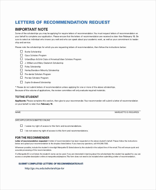Recommendation Letter for Scholarship Doc New 30 Sample Letters Of Re Mendation for Scholarship Pdf