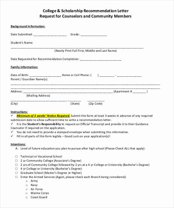 Recommendation Letter for Scholarship Inspirational 27 Letters Of Re Mendation for Scholarship Pdf Doc