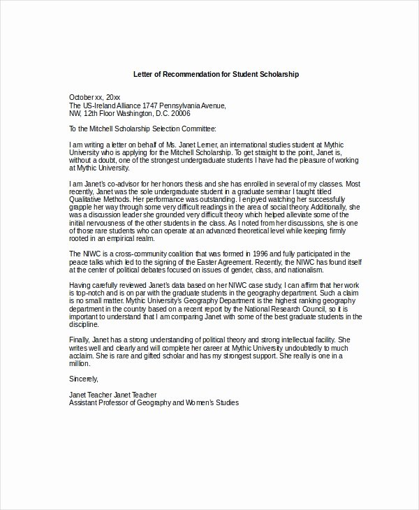 Recommendation Letter for Scholarship Pdf Best Of Sample Letter Re Mendation Doc Contoh 36