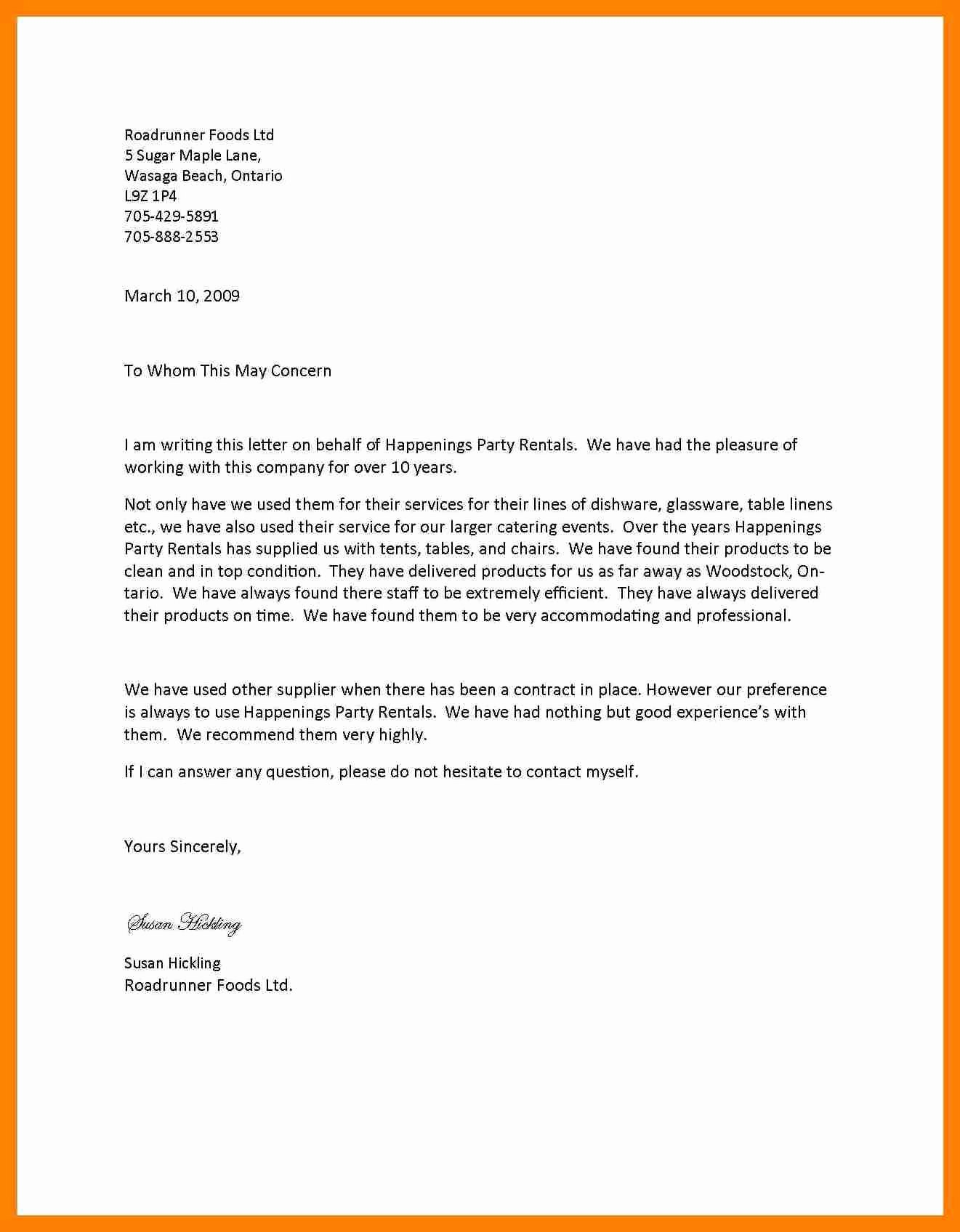 9 letter of re mendation letterhead