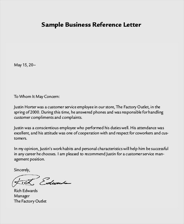 Recommendation Letter for Services Provided Lovely 8 Reference Letter Samples Examples Templates