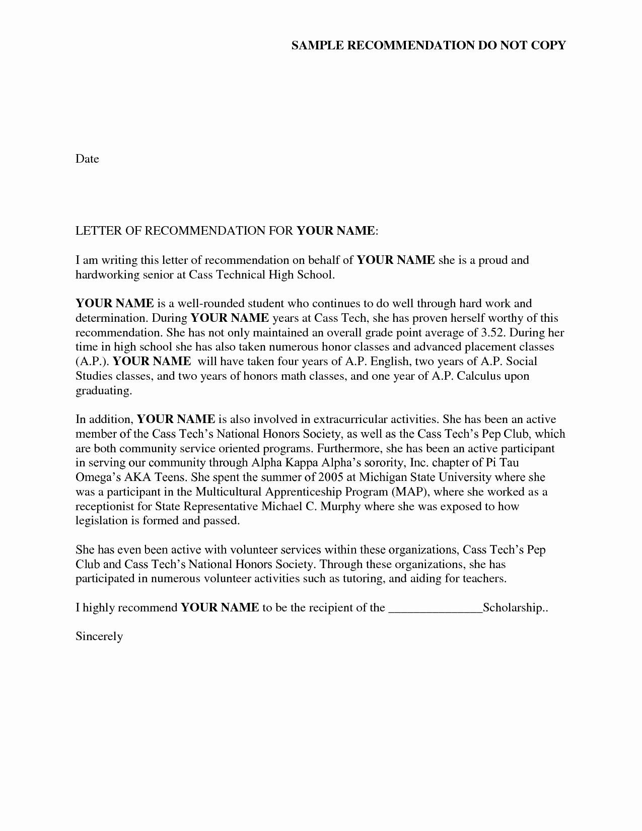 Recommendation Letter for sorority Luxury Reference Letter Of Re Mendation Sample