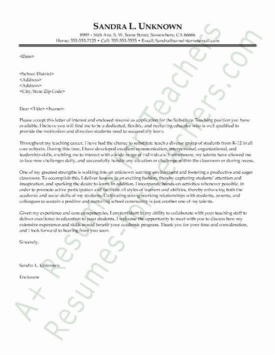 Recommendation Letter for Substitute Teacher Unique 1000 Ideas About Cover Letter Teacher On Pinterest