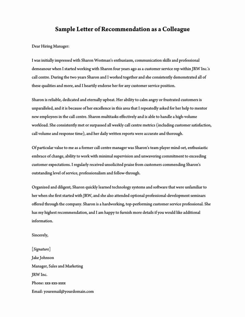 Recommendation Letter for Teacher Colleague Awesome Re Mendation Letter for A Teacher 32 Sample Letters