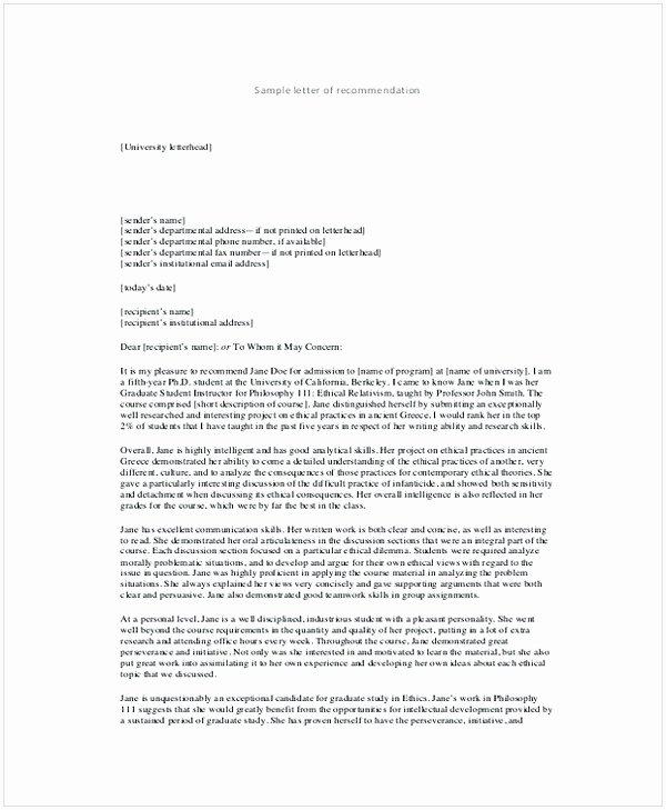 Recommendation Letter for Teacher Colleague Elegant Letter Of Re Mendation for A Teacher Colleague