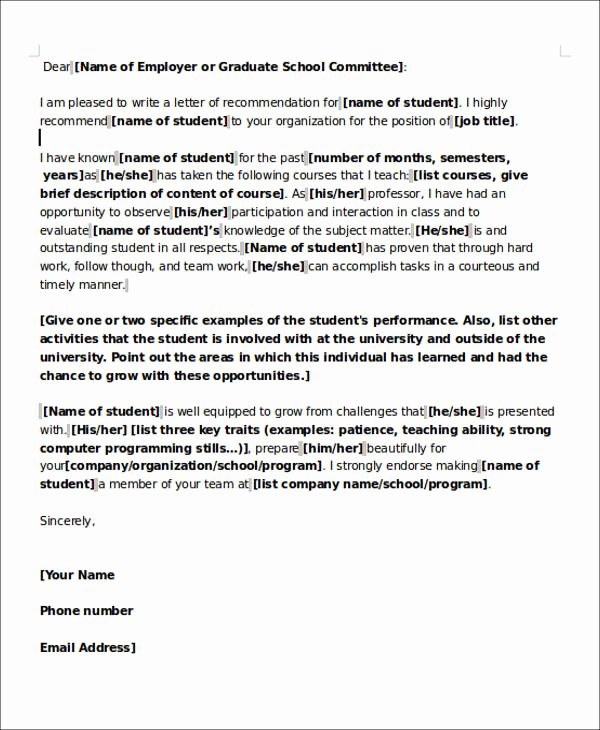 Recommendation Letter for Teaching Job Awesome 6 Sample Teaching Position Re Mendation Letter Free