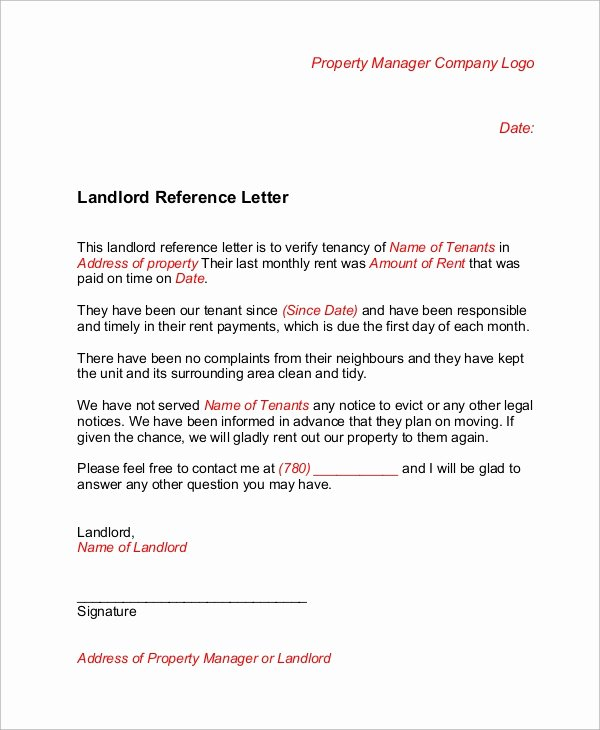 Recommendation Letter for Tenant Beautiful 6 Sample Landlord Reference Letters