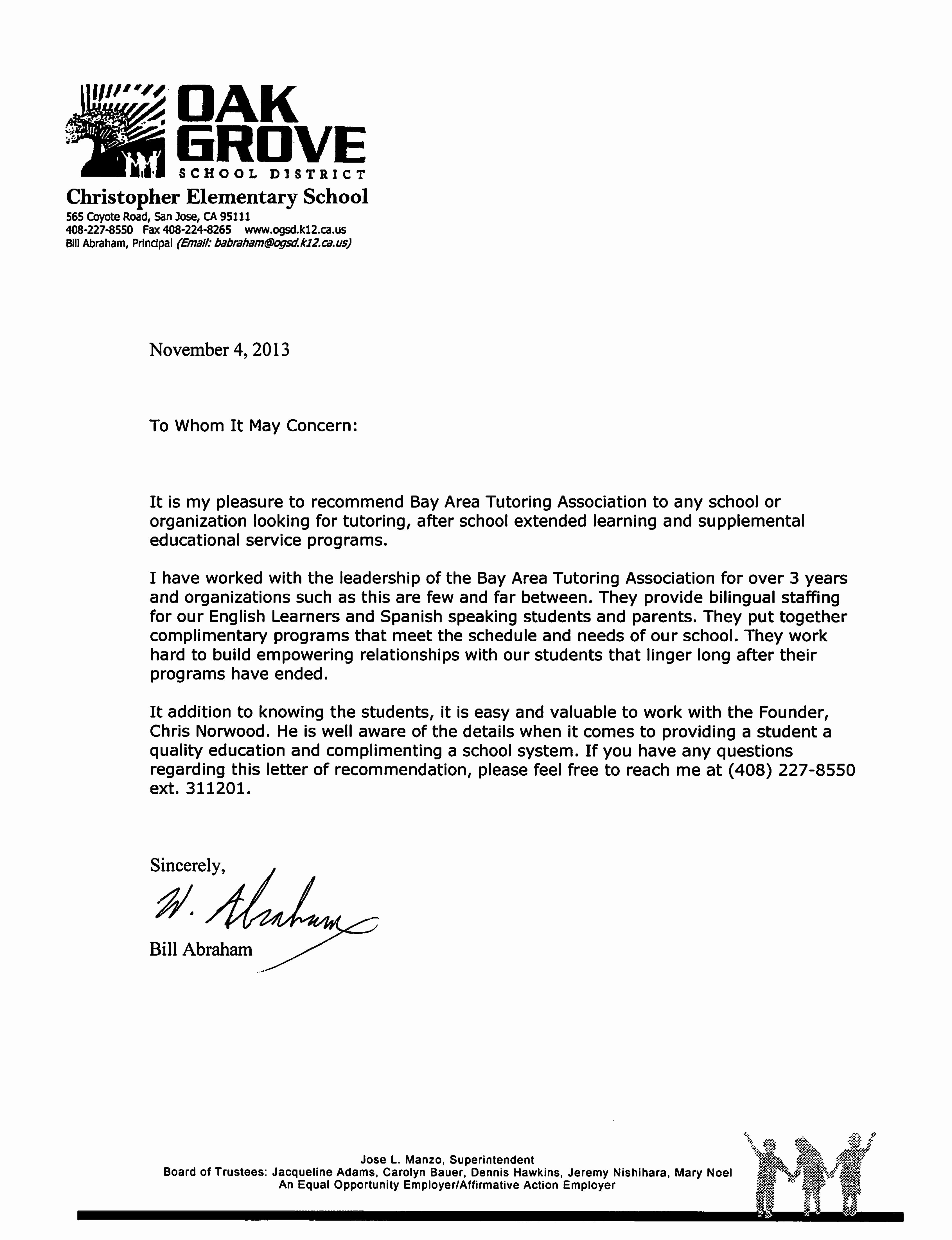Recommendation Letter for Tutor Beautiful Resources