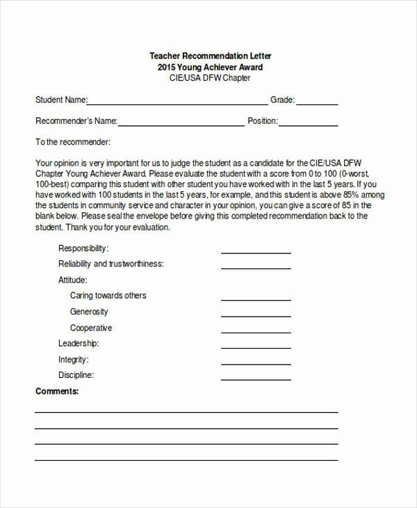 Recommendation Letter for Tutor Fresh 89 Re Mendation Letter Examples & Samples Doc Pdf