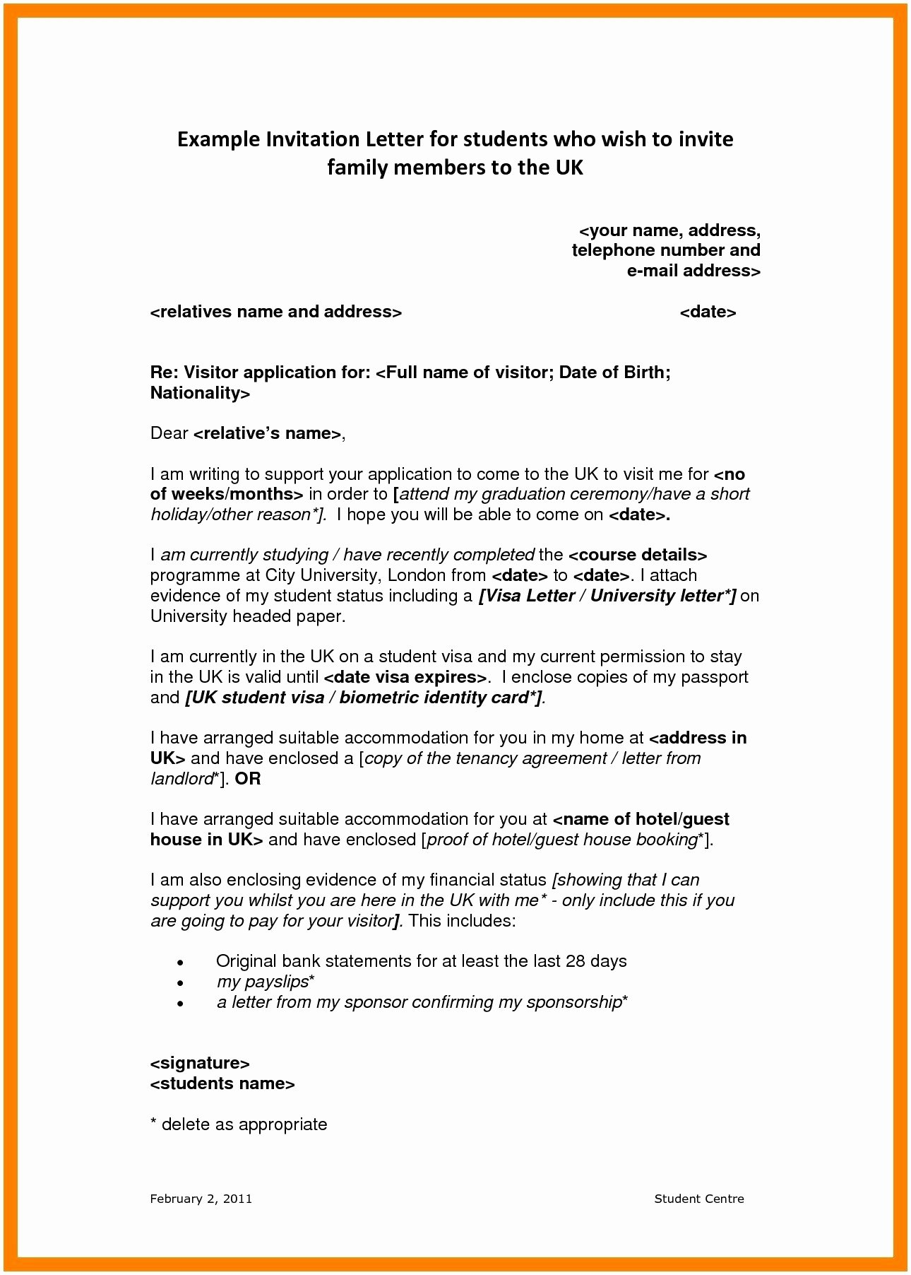 Recommendation Letter for Visa Awesome Immigration Letter Re Mendation for Family Fresh