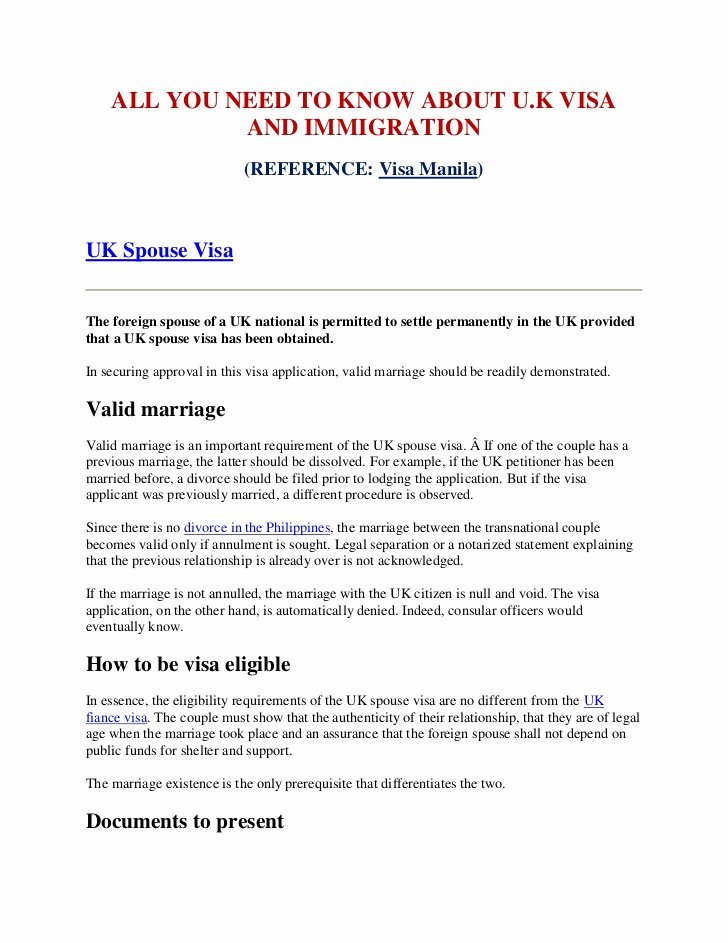Recommendation Letter for Visa Beautiful All You Need to Know About Uk Visa and Immigration
