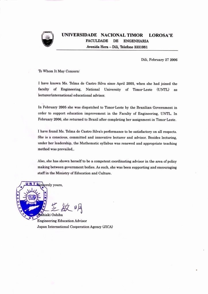 Recommendation Letter for Visa Luxury Re Mendation Letter 2