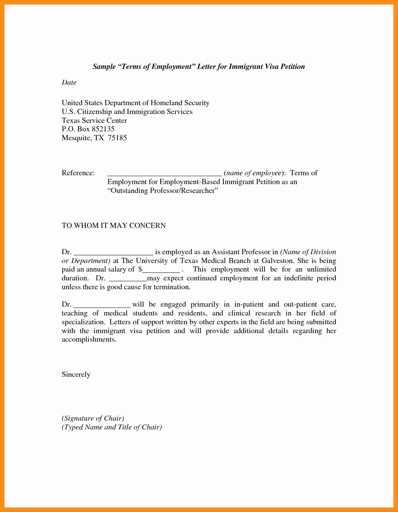 Recommendation Letter for Visa New 12 13 Immigration Letters Samples