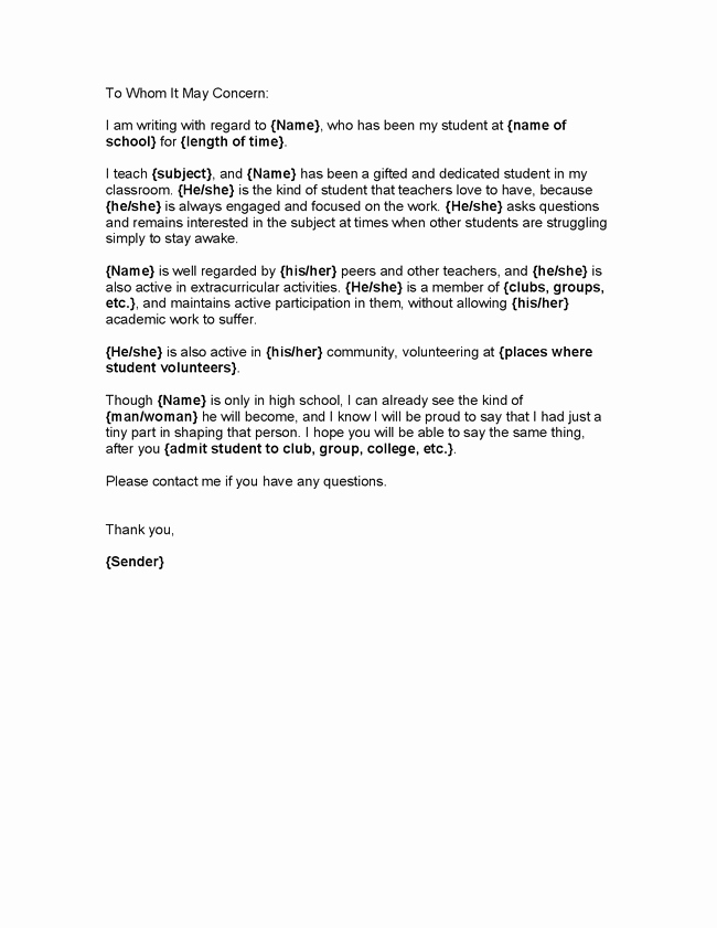 Recommendation Letter for Volunteer Student Lovely Related Image Education