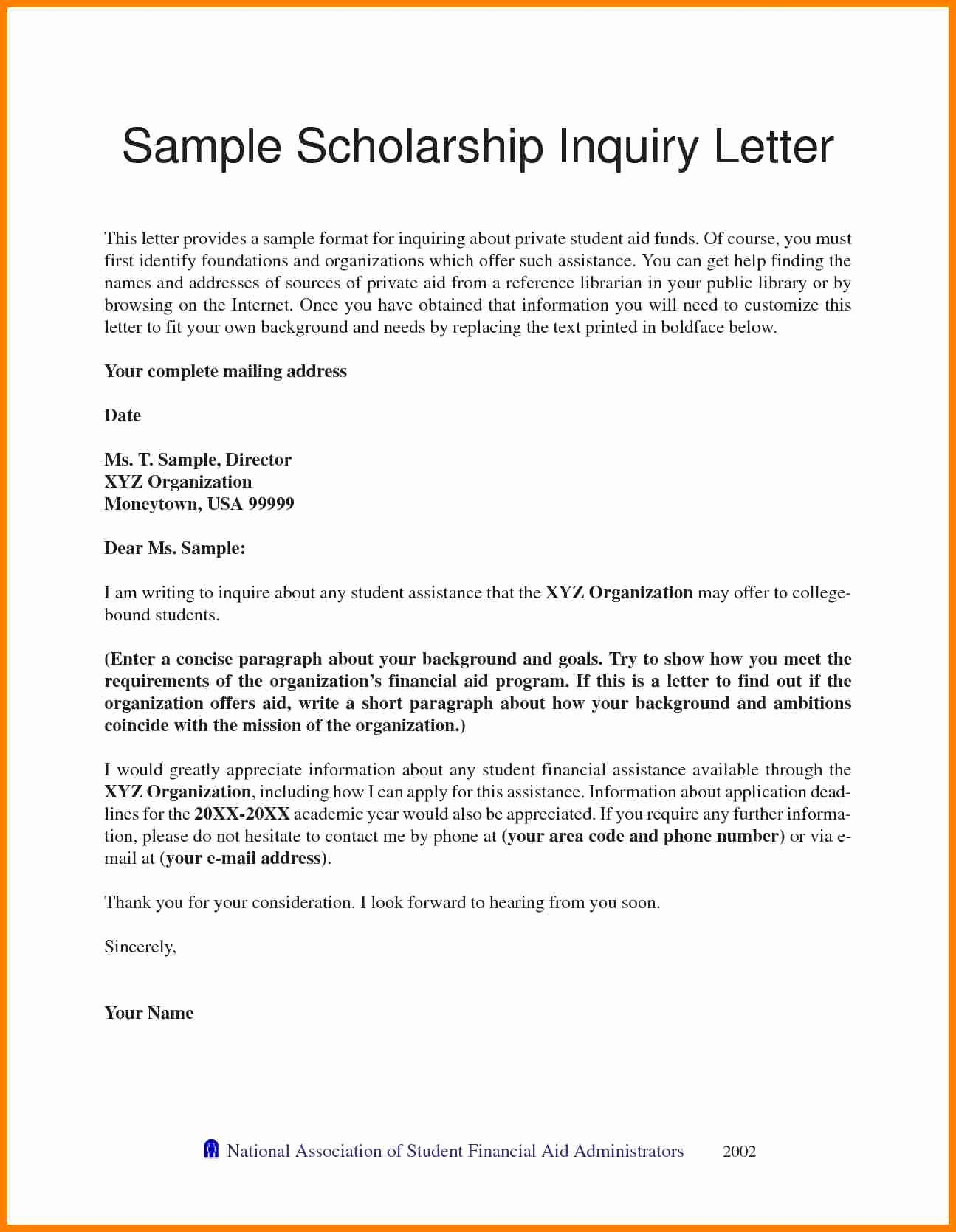 Recommendation Letter format for Scholarship New 6 Re Mendation Letter for Students Scholarships