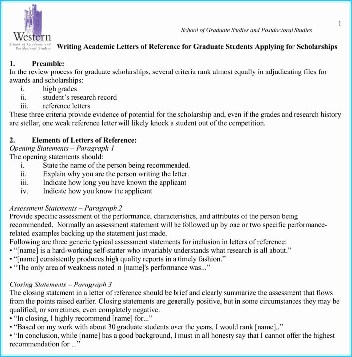 Recommendation Letter format for Scholarship Unique Scholarship Reference Re Mendation Letters 7 Sample