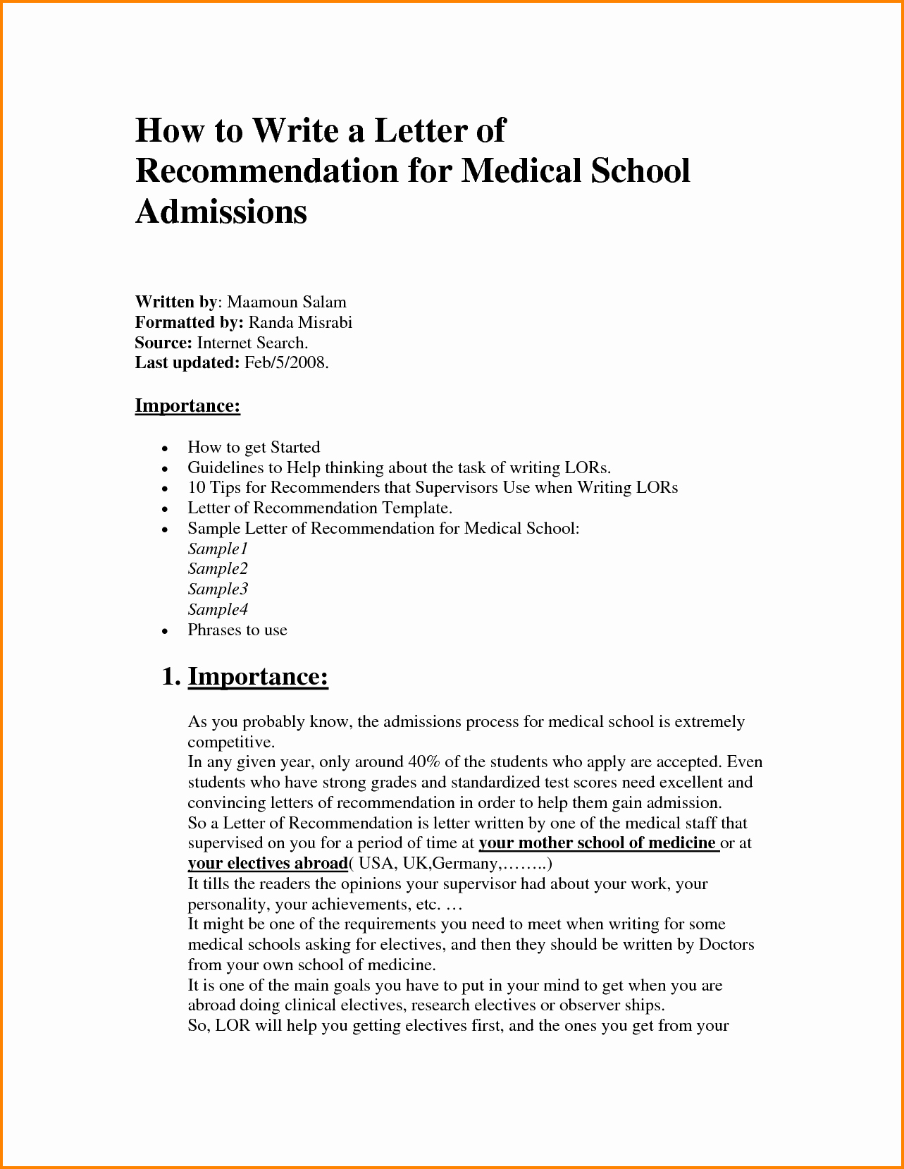 Recommendation Letter Medical School Fresh 11 Medical School Letter Of Re Mendation Template