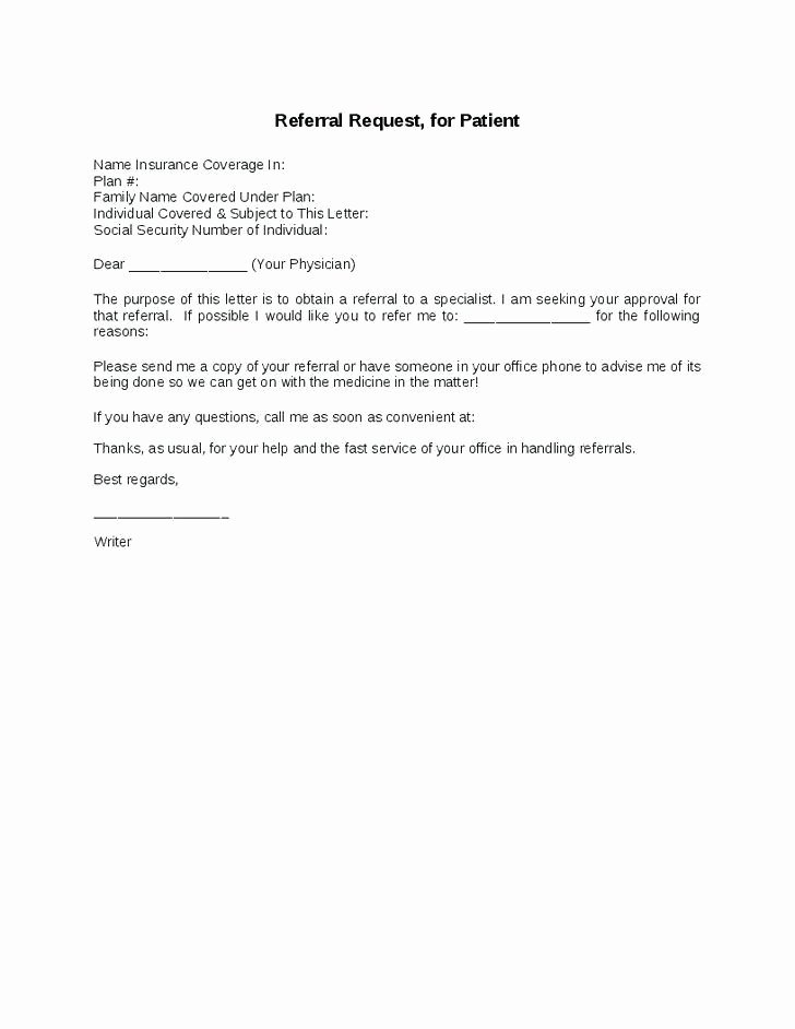 Recommendation Letter Request Sample Beautiful 14 15 How to Write A Referral Letter