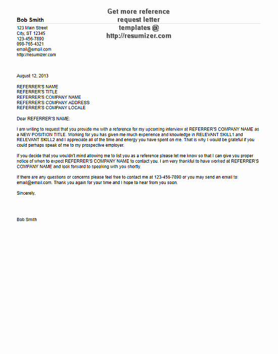 Recommendation Letter Request Sample Beautiful Reference Request Letter Sample 3