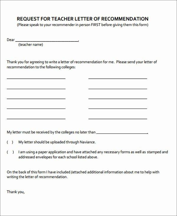 Recommendation Letter Request Sample Best Of 8 Sample formal Letter Of Re Mendation