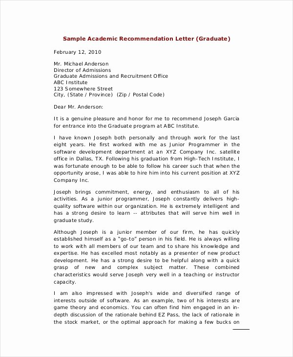 Recommendation Letter Sample Pdf Beautiful Personal Reference Letter 7 Free Word Excel Pdf