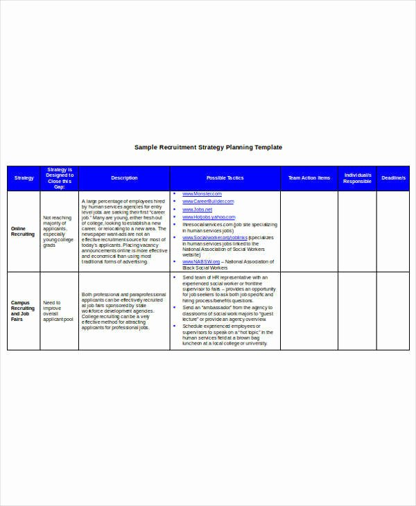 Recruiting Strategic Plan Template Awesome 9 Hr Operational Plan Samples & Templates – Pdf