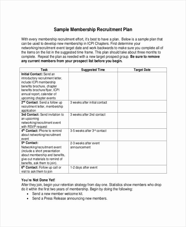 Recruiting Strategic Plan Template New Recruitment Plan Templates 9 Free Word Pdf format