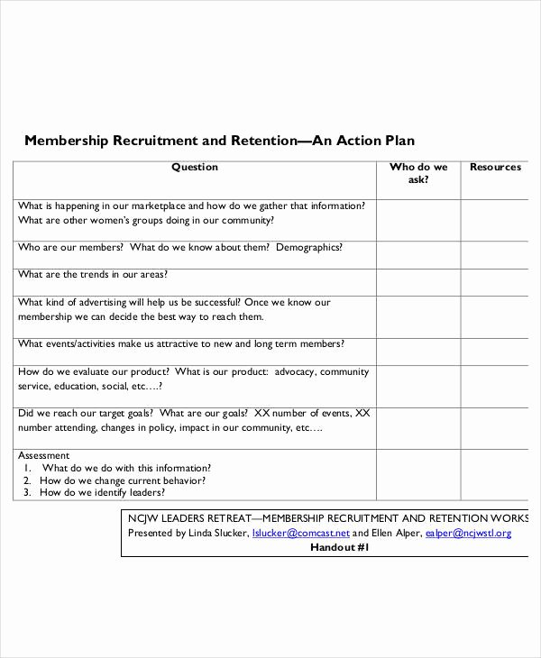 Recruitment Action Plan Template Best Of 54 Action Plan Examples Pdf Word