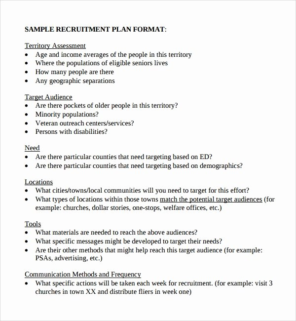 Recruitment Action Plan Template Fresh Sample Recruiting Plan Template 9 Free Documents In Pdf