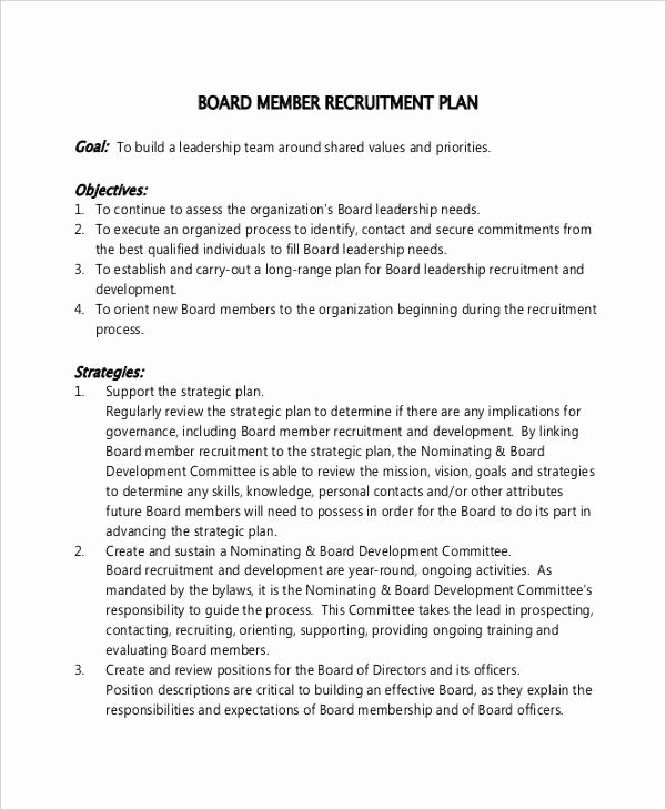 Recruitment Action Plan Template Inspirational Recruitment Plan Templates 9 Free Word Pdf format