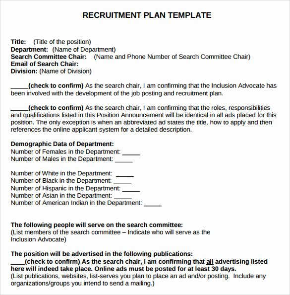 Recruitment Strategic Plan Template Awesome 8 Recruitment Plan Templates Download for Free