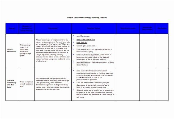 Recruitment Strategic Plan Template Beautiful Recruitment Strategy Template – 13 Free Word Pdf