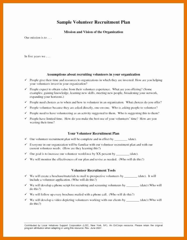 Recruitment Strategic Plan Template Lovely 6 7 Recruiting Plan