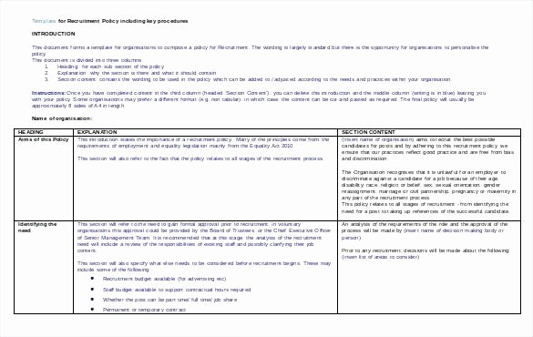 Recruitment Strategic Plan Template New Recruitment Strategy Planning Template