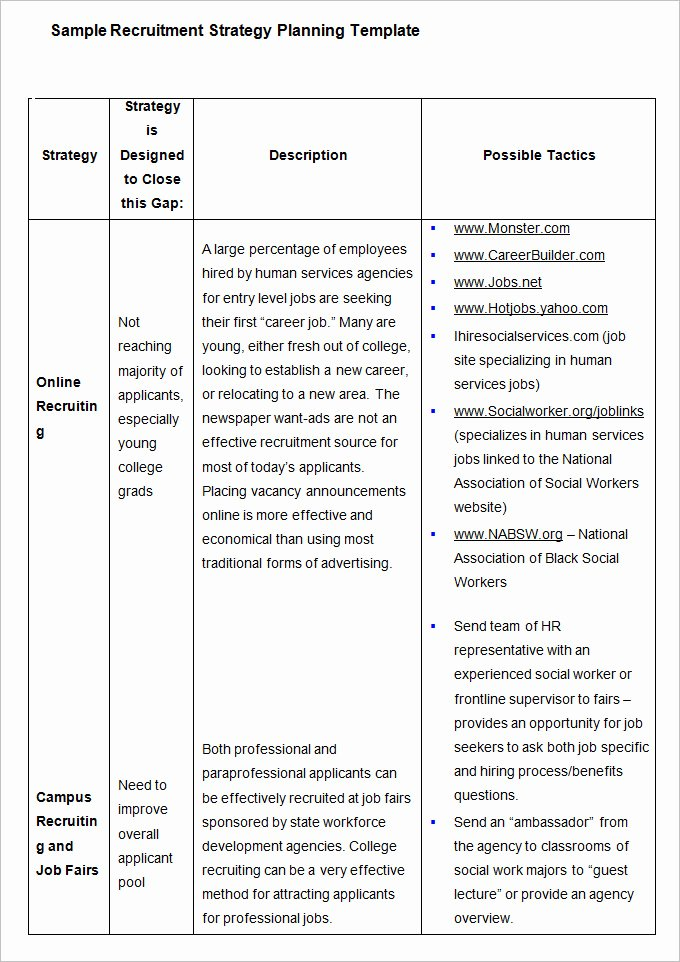Recruitment Strategy Plan Template Best Of Hr Strategy Template 31 Word Pdf Documents Download
