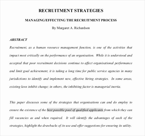 Recruitment Strategy Plan Template Lovely 15 Recruitment Strategy Templates Docs Pdf Word