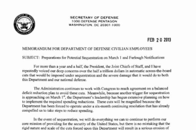 Reduction In force Plan Template Fresh Dod Memo Preparations for Potential Sequestration On