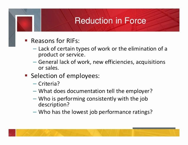 Reduction In force Plan Template Fresh Life Cycle Of An Employee Termination